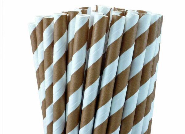 Pajitas de papel marrón (25)