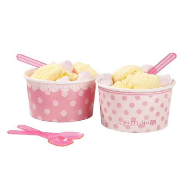 Set de 8 tarrinas para helados y golosinas