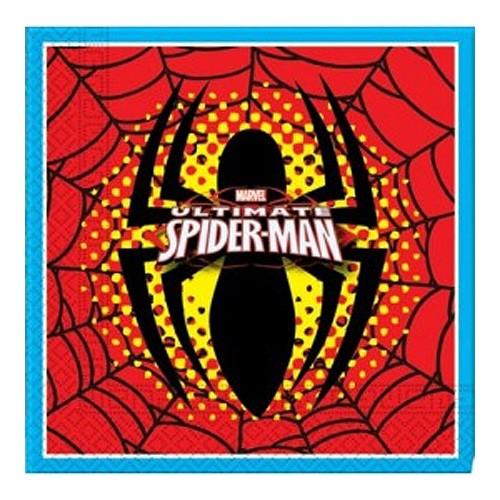 Servilletas De Papel Doble Capa Spiderman ( 33 X 33 Cm. ) Pack 20