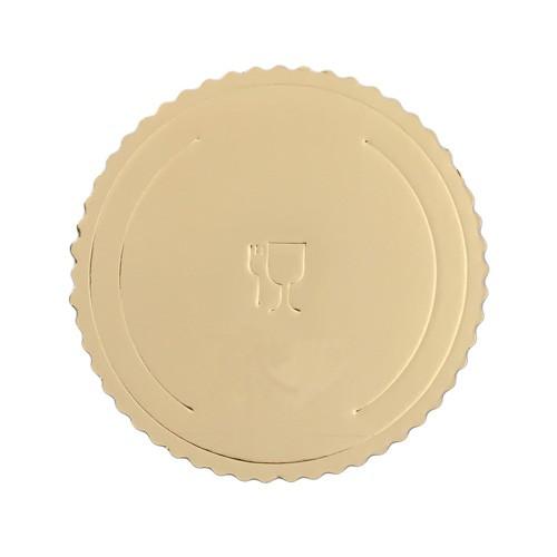 Bandeja de cartón oro extra-rígida redonda 26 cm