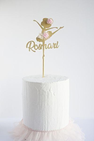 Topper Dorado Personalizado 1 línea