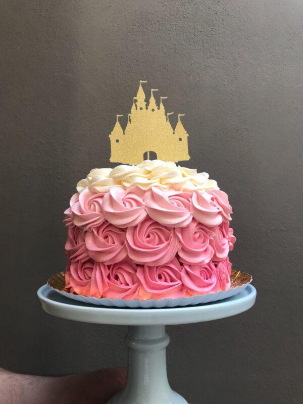 Topper castillo purpurina