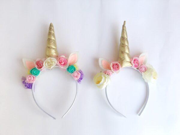 Pack diademas unicornio