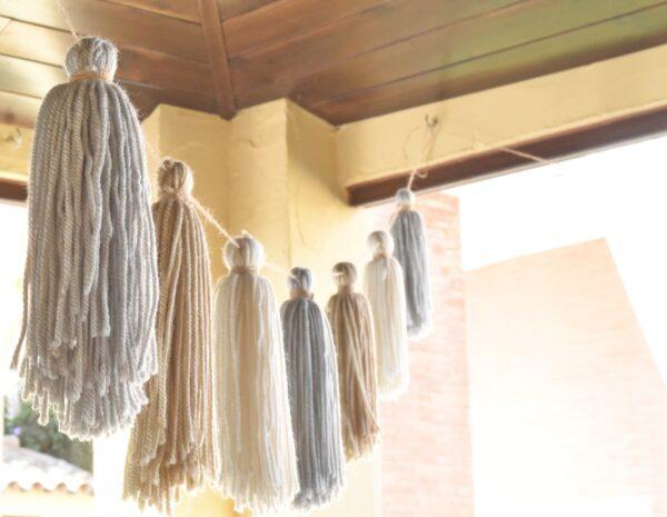 Guirnalda de tassels de lana