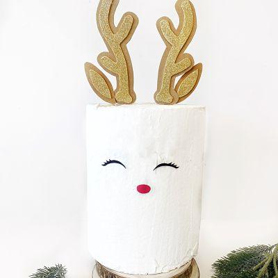 Topper para tarta Rudolph