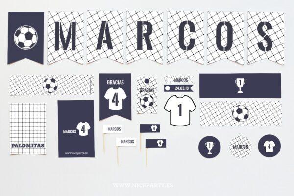 Kit de Fiesta Fútbol Azul Marino