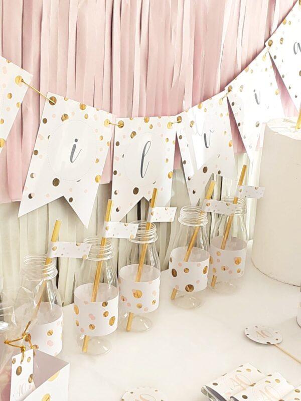 Kit de Fiesta Confetti Gold&Pink