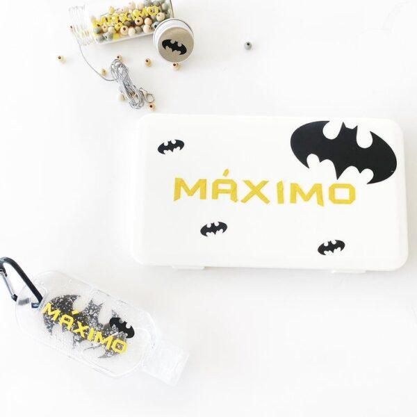Pack caja + gel + kit cuelgamascarilla DIY Batman