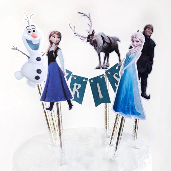 Topper para tarta Frozen